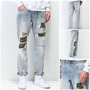 Levi's Hi-Ball Roll Camo Shredded Jeans